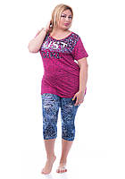 Домашний женский костюм большого размера 8287