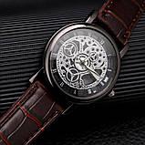 """Часы мужские """"Скелетон"""" коричневые, фото 3"""