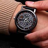 """Часы мужские """"Скелетон"""" коричневые, фото 4"""