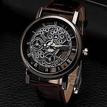 "Часы мужские ""Скелетон"" коричневые"