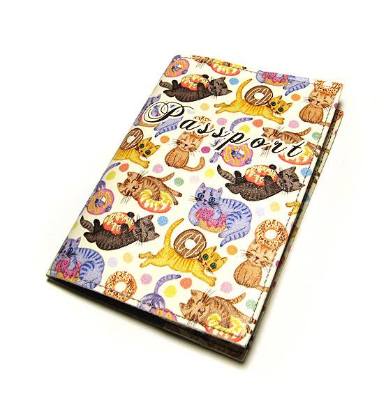 Обложка для паспорта прикольная Коты и пряники