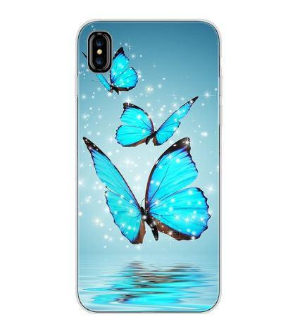 Оригінальний чохол накладка для Iphone X з картинкою Три метелики