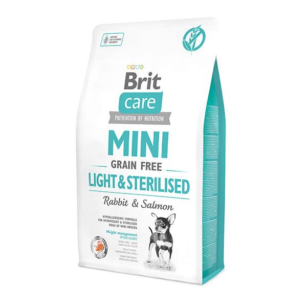 Brit Care Grain-free Mini Light&Sterilised з кроликом для стерилізованих собак та собак із зайвою вагою 2кг