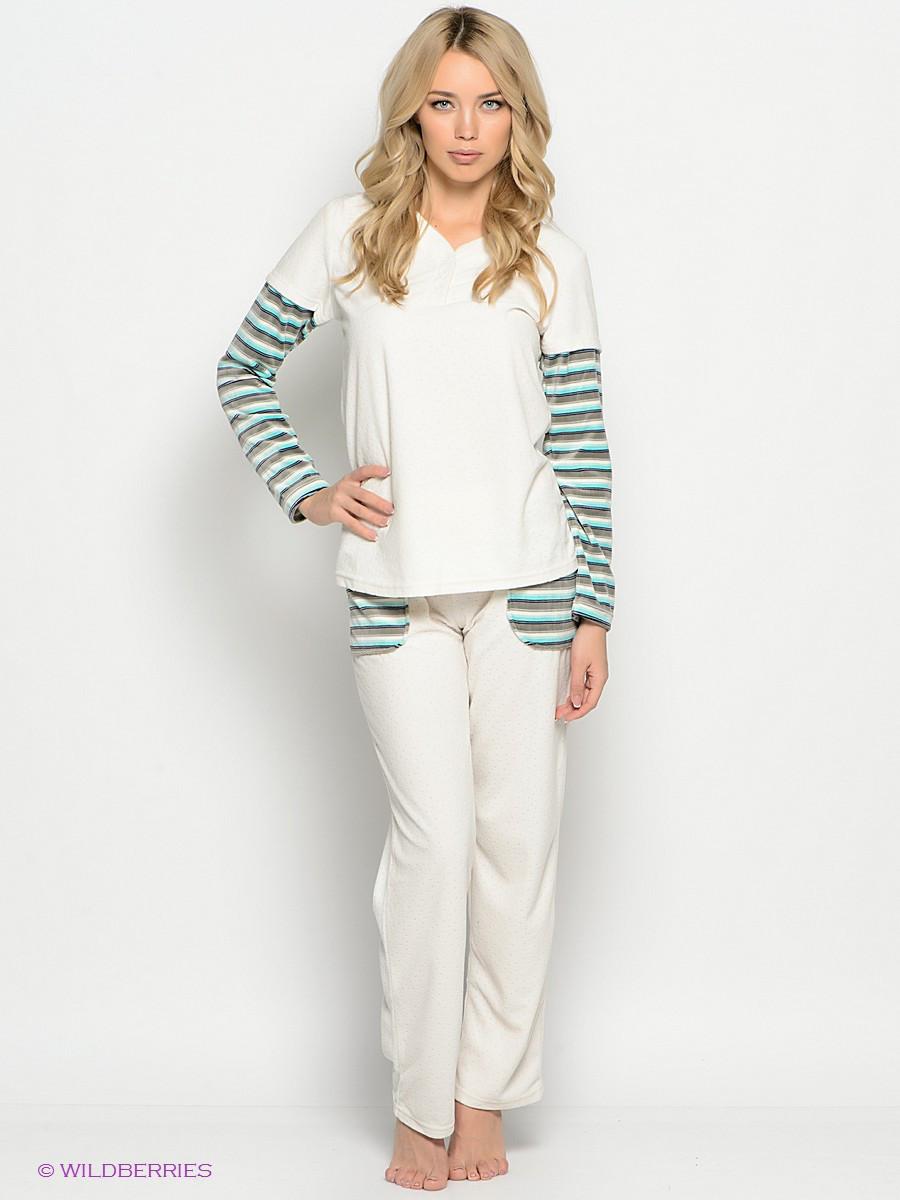 Стильний велюровий костюм для дому у білому кольорі Lauma 73D90/73D58