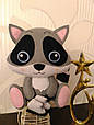 Мягкая игрушка енот фигурист из фетра, фото 2