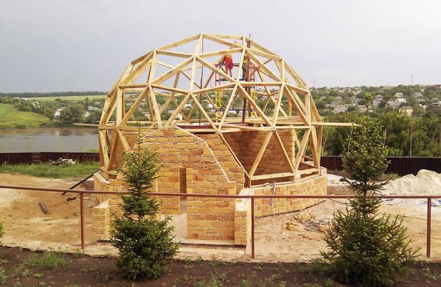 Купольный загородный дом 1