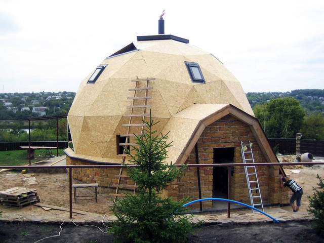 Купольный загородный дом 3