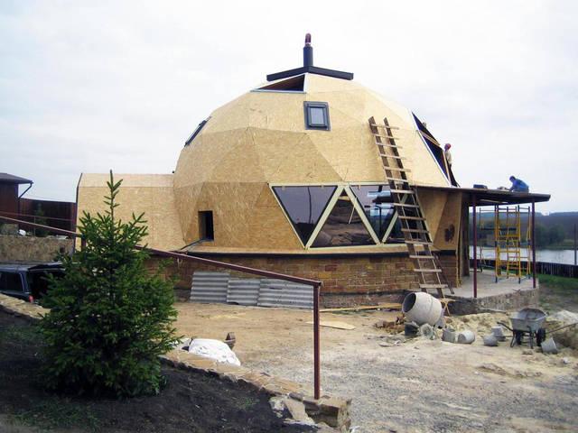 Купольный загородный дом 4