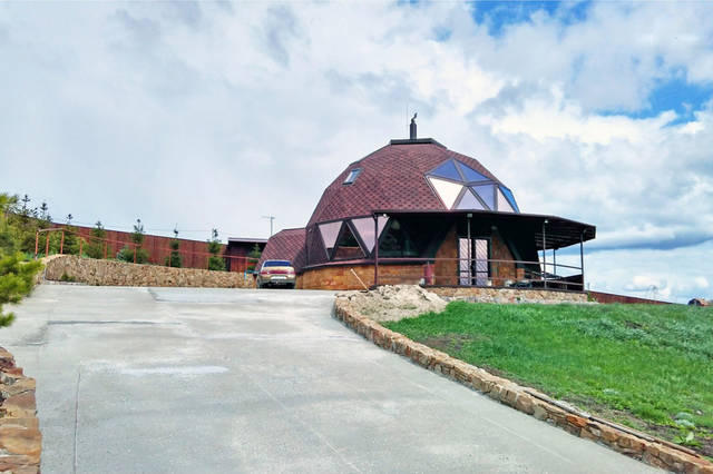 Купольный загородный дом 12