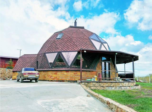 Купольный загородный дом 13