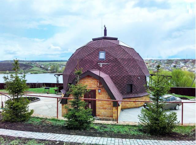 Купольный загородный дом 14