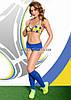 Комплект белья Ola желто-голубой ML