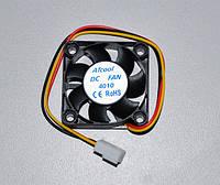 Вентилятор Кулер корпусний ATcool 4010, 3pin, розміри 40*40*10мм