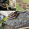 Садовая дорожка форма Дикий камень 60 х 60 х 6 см
