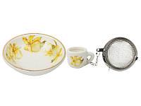 Набор для чая с подставкой Lefard Орхидея 7 см, 943-058