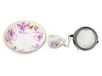 Набор для чая с подставкой Lefard Орхидея 7 см, 943-059