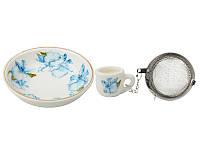 Набор для чая с подставкой Lefard Орхидея 7 см, 943-060