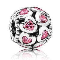 Подвеска-шарм Розовые сердца