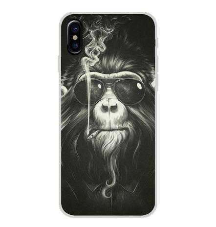 Бампер силіконовий чохол для Iphone X з картинкою Мавпа