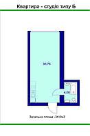 Квартиры студио в готовом сданном доме 35м2