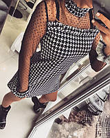 Платье , коттон с эластаном гусиная лапка