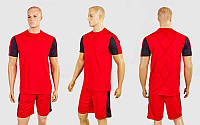 Футбольная форма Height  (PL, р-р M-XL, красный-черный, шорты красные), фото 1