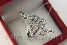 Серебряное кольцо Змея Гюрза