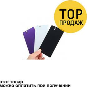 Задняя панель корпуса для мобильного телефона Sony C6603/L36h/Xperia Z фиолетовая, AAA