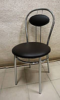 Стул для кухни, кафе Tiziano chrome/кожзам V