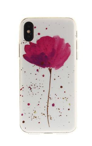 Чехол с картинкой (силикон) для Iphone X Цветок