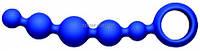 Анальная цепочка Joyballs Anal Short синяя , фото 1