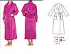 Елегантний довгий жіночий халат  LAUMA 72D99, фото 2