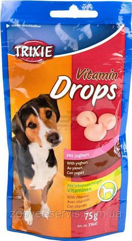 Витамины для собак TRIXIE Drops Йогурт 75 г 31641, фото 2