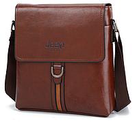 Стильная мужская сумка Jeep. Коричневая