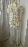 Платье вечернее вышивка бисер Frock&Frill р.50 7645