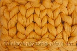 Шерсть для пледа (толстая пряжа) серия Кросс, цвет желток