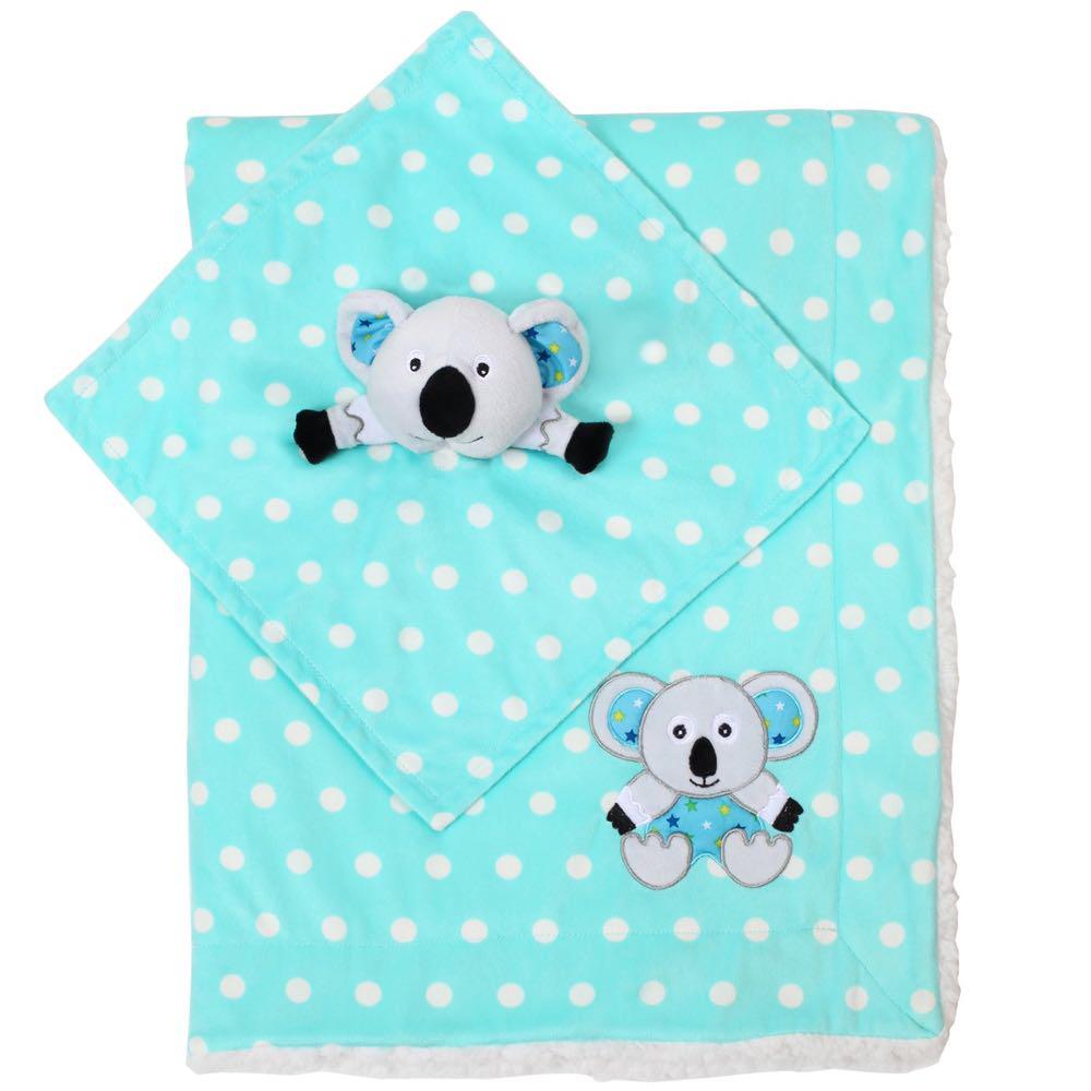 Детское двухстороннее одеялко BabyOno 75х100 см Minky Коала (1412/03)