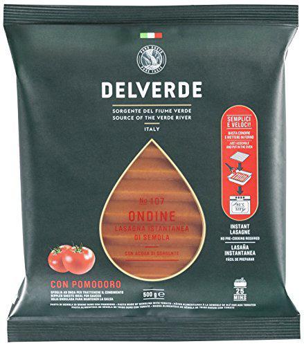 Листы лазаньи (макароны) Delverde Ondine con Pomodoro