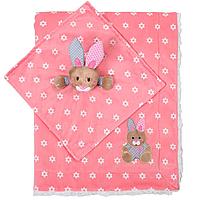 Детское двухстороннее одеялко BabyOno 75х100 см Minky Зайчик (1412/01)