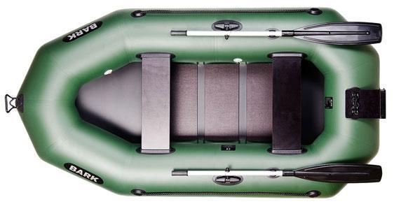 Высококачественная двухместная гребная надувная лодка Bark (Барк) B-250CN с транцем. Доступно. Код: КГ3040