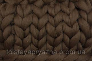 Шерсть меринос для вязания пледов, прядения, валяния №21 (темный верблюд), фото 3