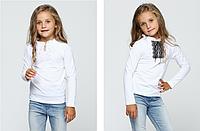 Блуза белая с белым  или черным кружевом полочкой