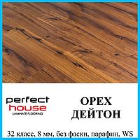 Ламинат без фаски толщиной 8 мм Perfect House Home Decor 32 класс, Орех  Дейтон