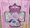 Декоративная детская косметика Корона Fashion girl make-up, 3 яруса, тени, помады, блеск для губ