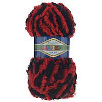Пряжа Alize Furlana красный-черный