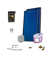 Пакет солнечных коллекторов ENSOL для приготовления горячей воды на 2-3 человека с 2 панелей без бака