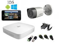 Комплект видеонаблюдения Dahua HD-CVI Улица-1 (1 Мп)