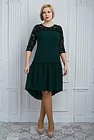 Интересное платье с удлененой спинкой