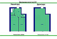 Двухъярусная квартира 109 м2  в готовом сданном доме