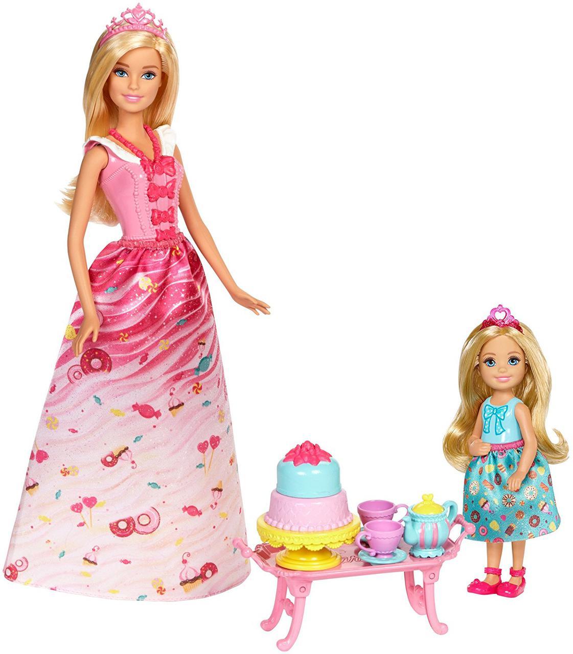 Барби Сладкое Чаепитие в Свитвилле Дримтопия Barbie Dreamtopia Sweetville Kingdom Princess Tea Party